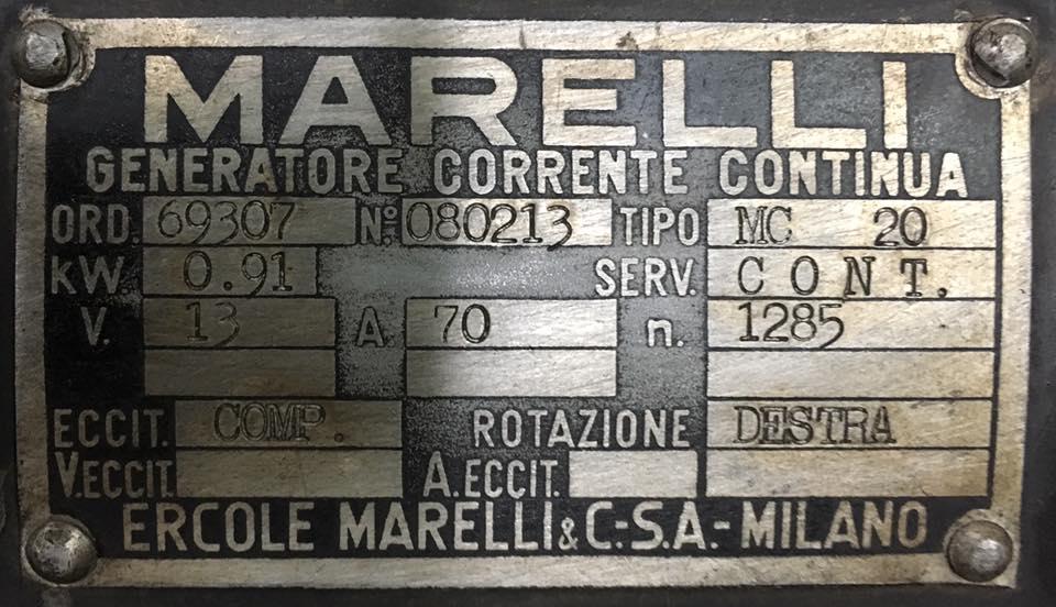 Targhetta Magneti Marelli